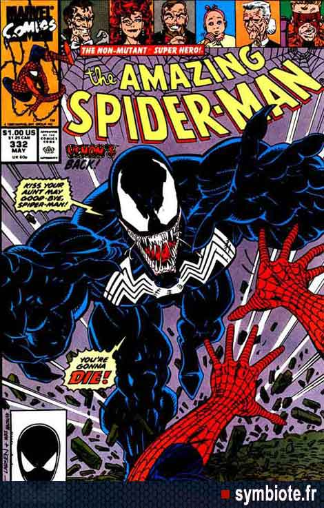 Amazing Spiderman #332, couverture