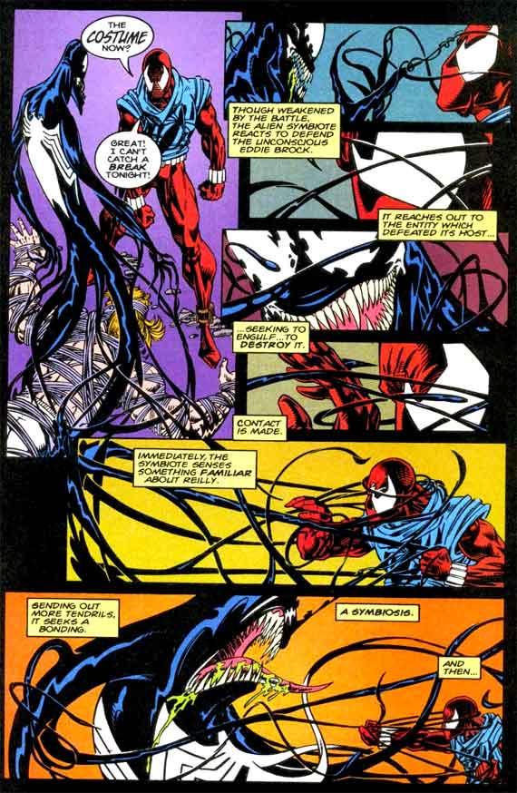 Symbiote Spiderman Comic